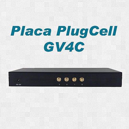Placa - PlugCell GV4C (Chipeira) - 4 canais