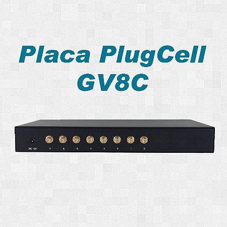 Placa - PlugCell GV8C (Chipeira) - 8 canais