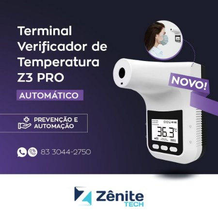 Termômetro Automático Sem Contato - Z3 PRO - até 12x