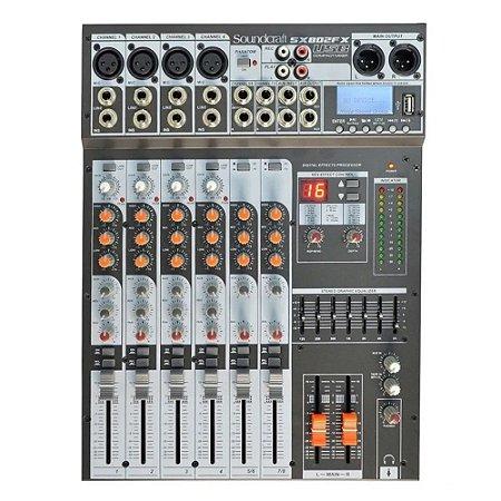 Mesa De Som Soundcraft Sx802fx usb 8 Canais Selenium