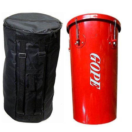 Kit Rebolo Tantanzinho Cônico Gope Vermelho 10 pol x 45cm Capa