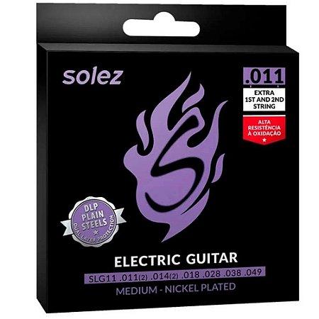Encordoamento Guitarra 011 Solez SLG11 Dual Layer Protection