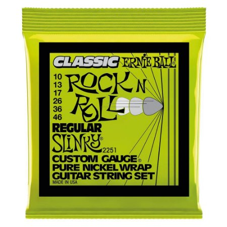 Encordoamento Ernie Ball Guitarra 010 Classic RockNRoll 2251