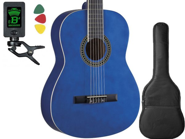 Violao Nylon Tagima Memphis Ac39 Cor Azul Afinador Capa