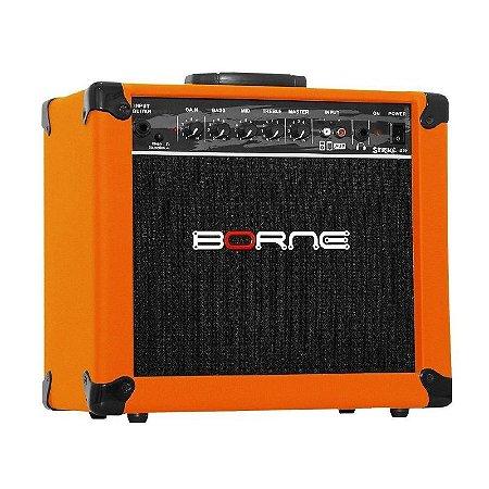 Amplificador Cubo Borne Impact Bass Cb60 20w Laranja