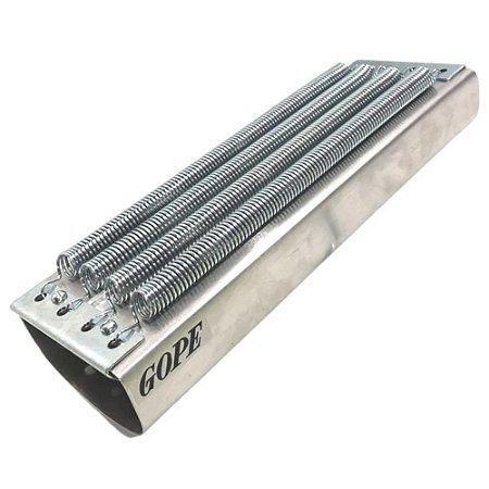 Reco Reco Gope cromado prata 4 molas Alumínio 767
