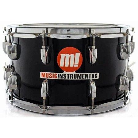 Caixa Bateria M! Music Phx 14 x 8 pol 580 Preta profissional