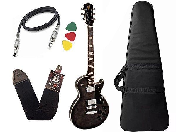 Guitarra Les Paul PHX LP5 Cor Preto + Capa Cabo