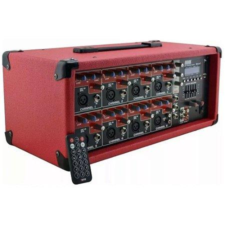 Mesa De Som Cabeçote Amplificado Novik Nvk-8500bt
