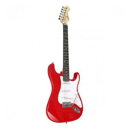 Guitarra Tonante Strato Muriels Red Berry Vermelha Elétrica