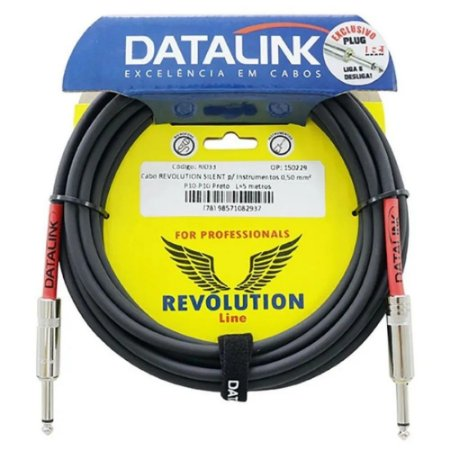 Cabo Datalink Revolution Silent Instrumentos 0,50mm P10 5m