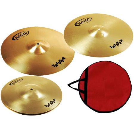 Kit Prato Bateria Orion Twister Twr90 14 16 20 + Bag