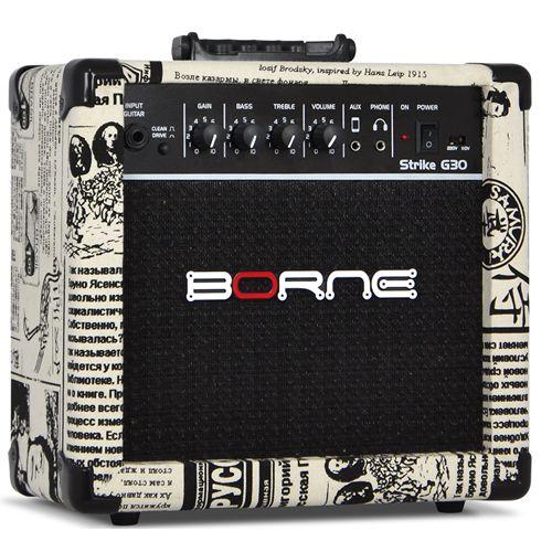 Amplificador para guitarra Cubo Borne G30 jornal C/ Distorção