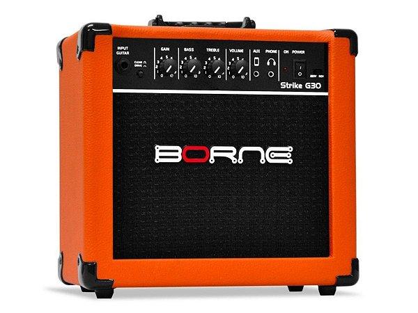 Amplificador para guitarra Cubo Borne G30 Laranja Orange C/ Distorção