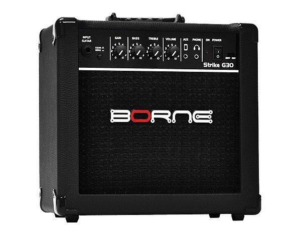 Amplificador Cubo Borne G30 Preto C/ Distorção Guitarra