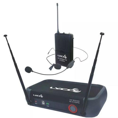 Microfone Lapela Sem Fio Lyco Vh102pro-hl Headset