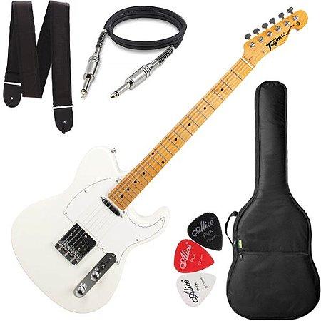 Guitarra Tagima Telecaster Tw55 Cor Branco Pérola Capa Cabo