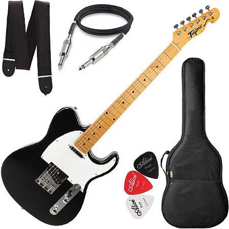 Guitarra Tagima Telecaster Tw55 Cor Preto Capa Cabo Correia