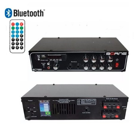 Receiver Som Ambiente Borne Rc7000 80w Volume Individual