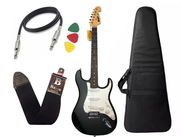 Guitarra Mod Fender Tagima Memphis Mg32 preto fosco Capa