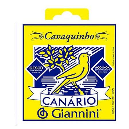 Encordoamento Cordas Canario Giannini Cavaquinho Aço Gescb