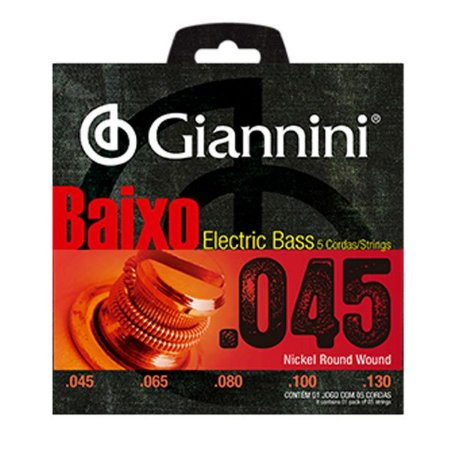 Encordoamento Cordas Giannini para Baixo Pesado GEEBRS5 0.45