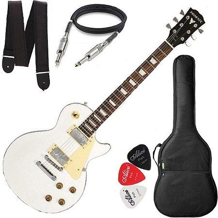 Guitarra Phx Lp Top Lp Branco Capa Cabo Correia