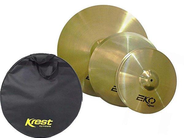 Kit Set Pratos Krest Eko 13 14 18 Brass com Bag ECOSET3