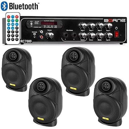 "Kit Som Ambiente Borne Rc7000 Usb Fm + 4 Elips LL audio 4"""