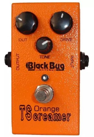 Pedal Guitarra Black Bug Orange Tscreamer Tots Distortion