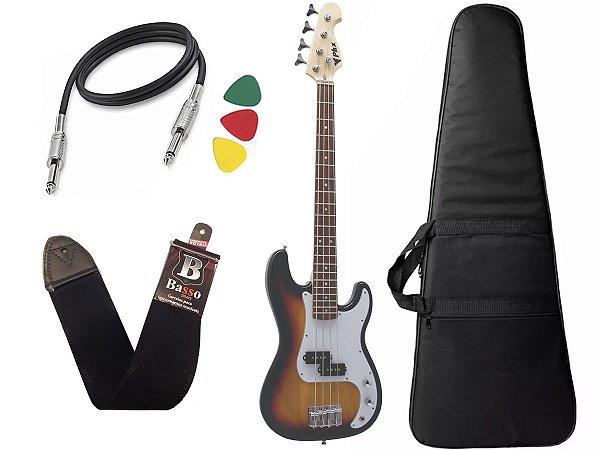 Baixo Infantil Criança Phx Precision Bass Jr 34 Sunburst Bag