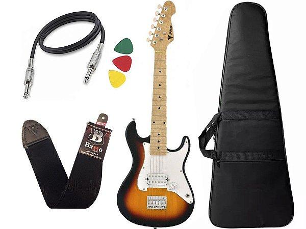 Guitarra Eletrica Phx Infantil Criança Jr Ist1 Sunburst 3/4 Capa