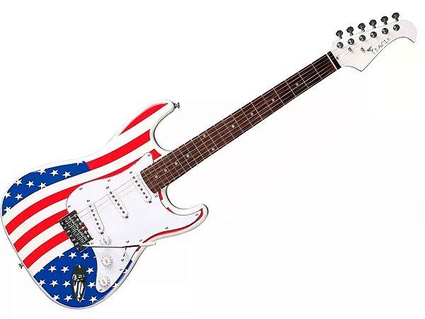 Guitarra Eagle Sts001 Usa Bandeira Americana stratocaster