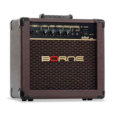 Caixa Amplificador para Violão Borne Infinit Cv60 15w marrom