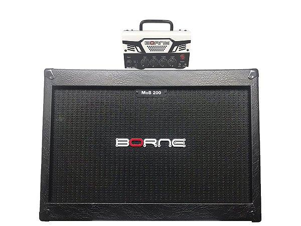 Cabeçote Borne Mob T30 caixa 2 falantes 12 2x12 mob200 Branco