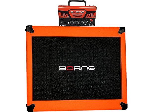 Amplificador Cabeçote Borne MobT30 falante 10 laranja orange