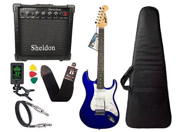 Kit Guitarra Tagima Memphis Mg32 Azul amplificador Sheldon