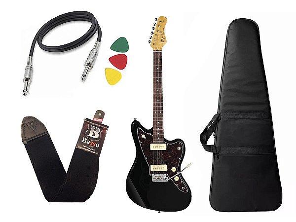 Kit Guitarra  Tagima Tw61 Woodstock Preto Bag Correia