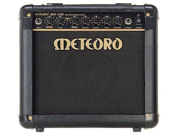 Amplificador Cubo Meteoro Mg15r distorção reverb guitarra