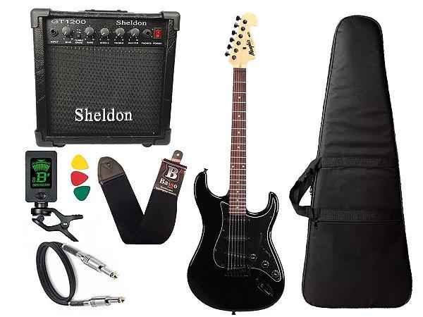 Kit Guitarra Tagima Memphis Mg32 Preto amplificador Sheldon
