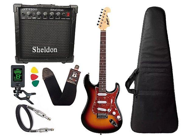 Kit Guitarra Tagima Memphis Mg32 Sunburst Cubo Sheldon