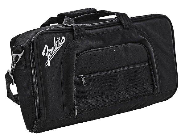 Capa Bag Fender Pedalboard Pedal GIG Preto Mustang