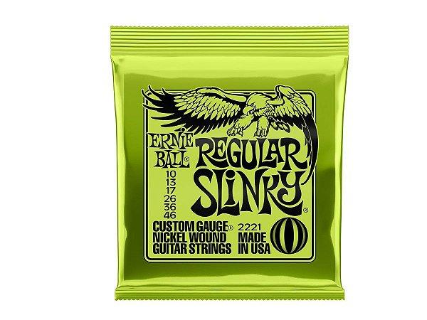 Encordoamento Ernie Ball Guitarra 010 Regular Slinky
