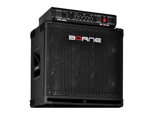 Kit Borne Pro 300 Cabeçote E Caixa 4 Falantes 8 Pro408 Baixo