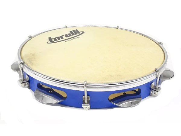 Pandeiro Torelli TP300 10 Polegadas Pele Animal Azul