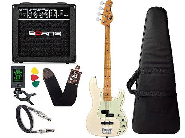 Kit Baixo Tagima Tw65 precision Branco Amplificador borne