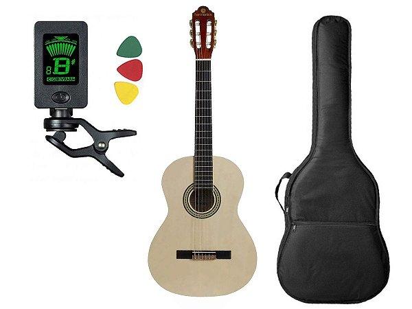 Kit Violão Clássico Nylon Estudante Harmonics Gna-111 Natural Capa