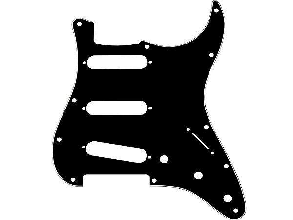 Escudo Fender preto Guitarra Stratocaster single - original