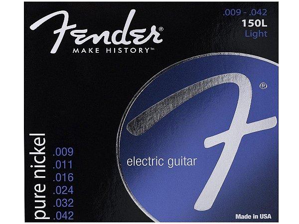 Encordoamento corda Guitarra 09 fender Aço 150L light niquel
