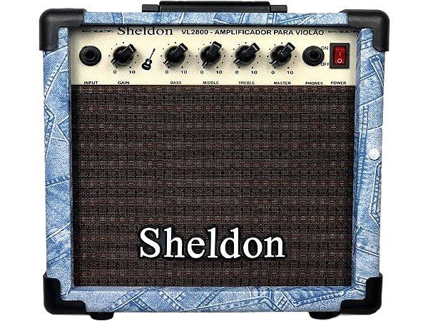 Caixa Amplificador Para Violão Sheldon Vl2800 Jeans azul 15w